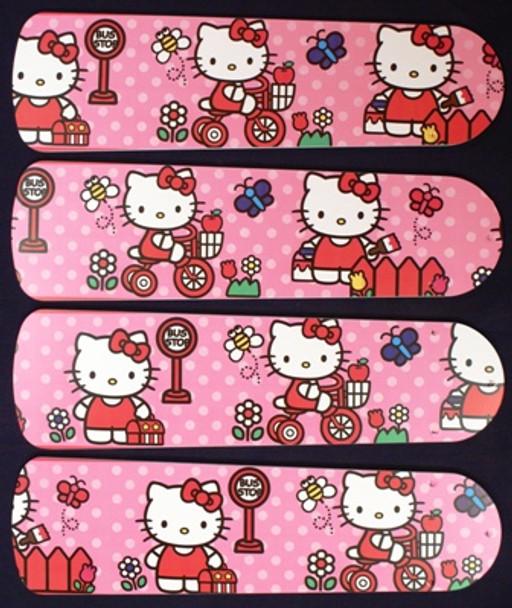 "Hello Kitty Sweet Dreams Ceiling Fan 42"" Blades Only 1"