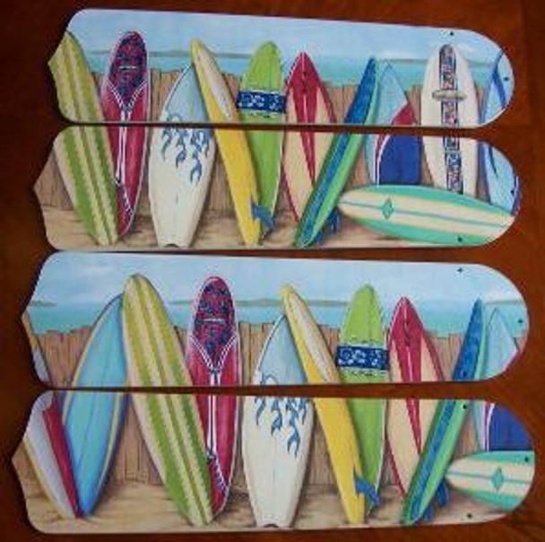 """Hawaiian Surfboards Ceiling Fan 42"""" Blades Only 1"""