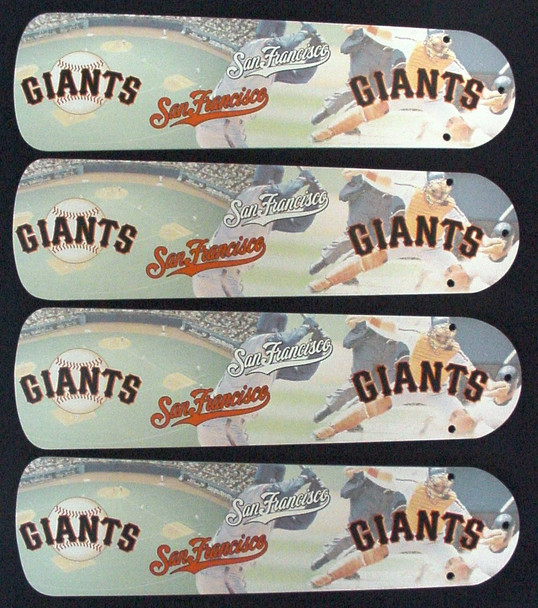 "MLB San Francisco Giants Baseball Ceiling Fan 42"" Blades Only 1"
