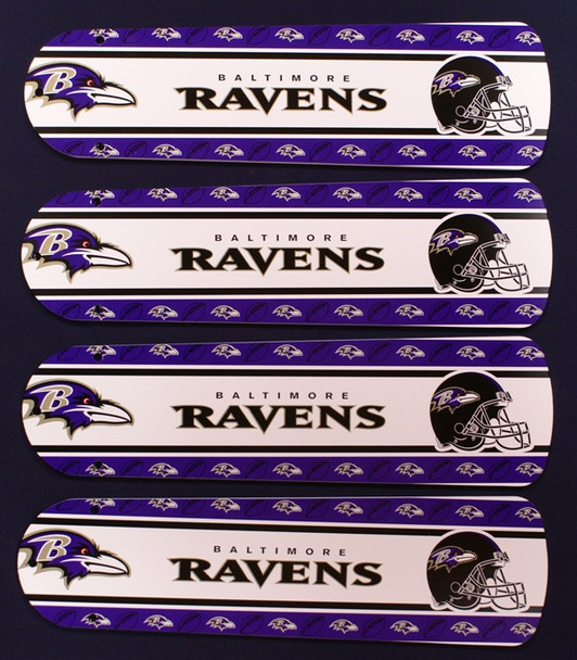 """NFL Baltimore Ravens Football Ceiling Fan 42"""" Blades Only 1"""