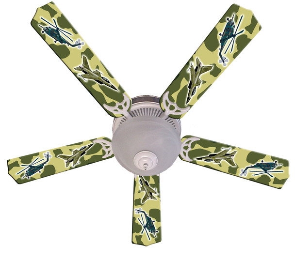 "Freedom Camo Military Ceiling Fan 52"" 1"