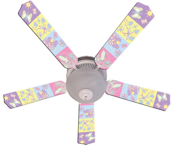 """Baby Nursery Happy Wings Ceiling Fan 52"""" 1"""