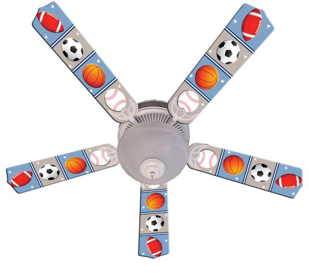 """Kids Play Ball Ceiling Fan 52"""" 1"""