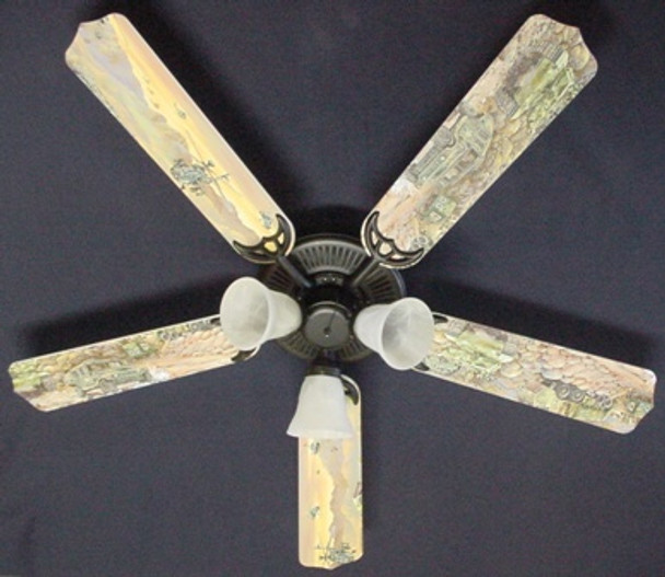 """Army Tanks Military Helicopter Ceiling Fan 52"""" 1"""