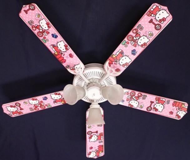 """Hello Kitty Sweet Dreams Ceiling Fan 52"""""""