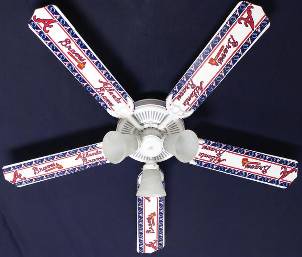 """MLB Atlanta Braves Baseball Ceiling Fan 52"""" 1"""