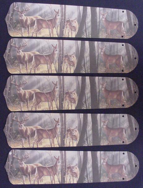 "Deer Buck Doe Hunting 52"" Ceiling Fan Blades Only 1"