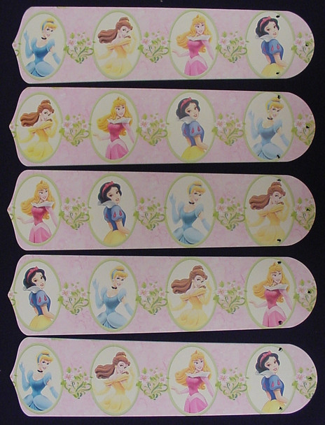 "Disney Princesses -Dancing 52"" Ceiling Fan Blades Only 1"