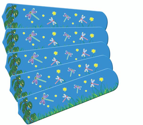 "Kids DragoNFLies & Fireflies 52"" Ceiling Fan Blades Only 1"