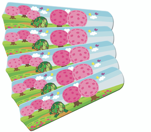 """Kids Happy Traveler Turtle 52"""" Ceiling Fan Blades Only 1"""