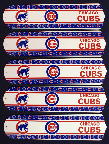 """MLB Chicago Cubs Baseball 52"""" Ceiling Fan Blades Only 1"""