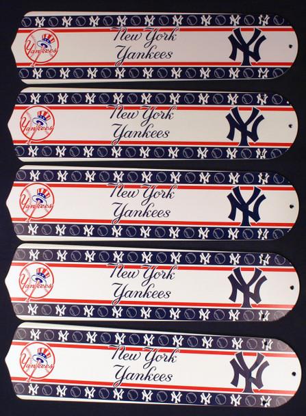 "MLB New York Yankees Baseball 52"" Ceiling Fan Blades Only 1"