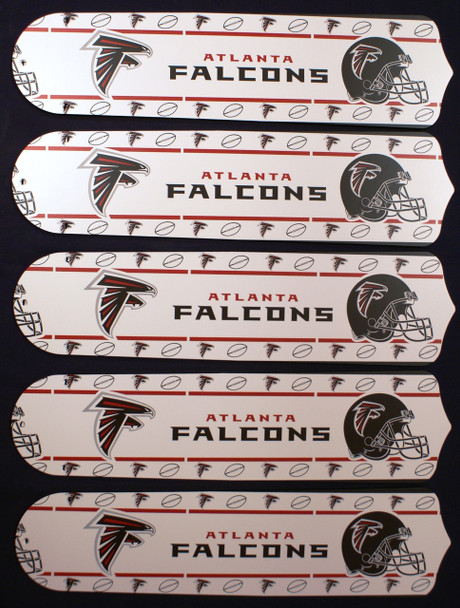 "NFL Atlanta Falcons Football 52"" Ceiling Fan Blades Only 1"