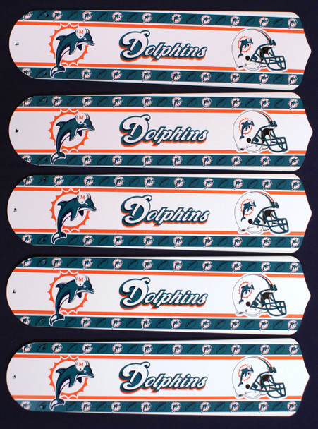 """NFL Miami Dolphins Football 52"""" Ceiling Fan Blades Only 1"""