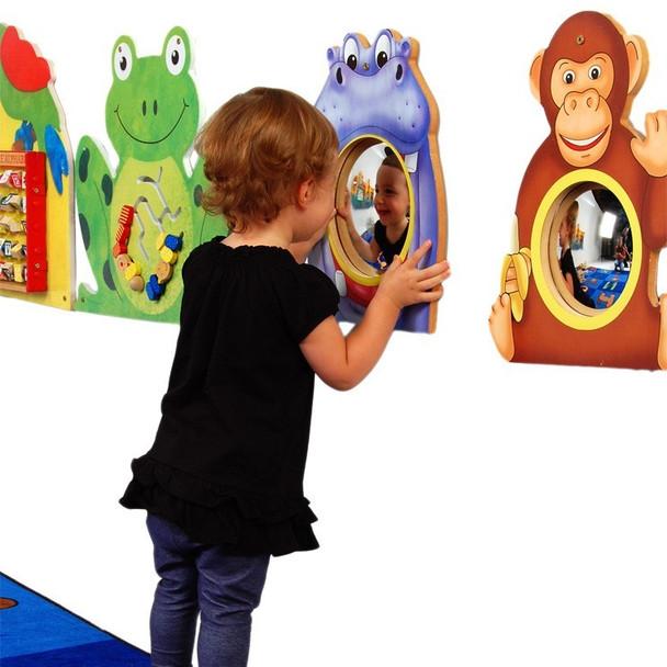 Hippo & Monkey Mirrors