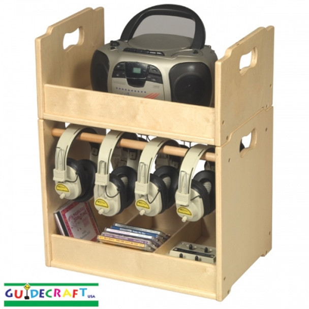 Guidecraft Stacking Audio Storage Units 1