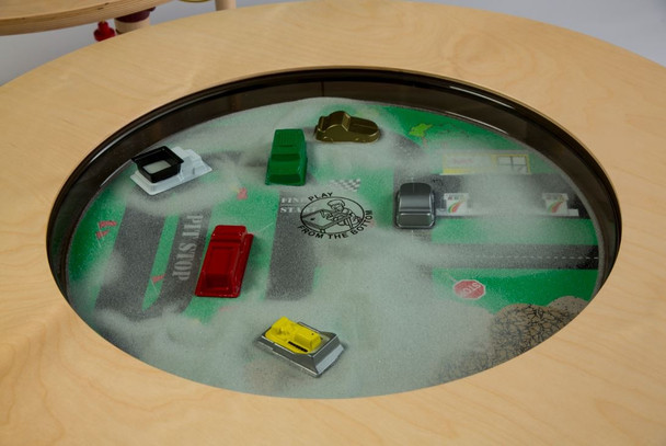 Car Truck Round Magnetic Sand Table 1