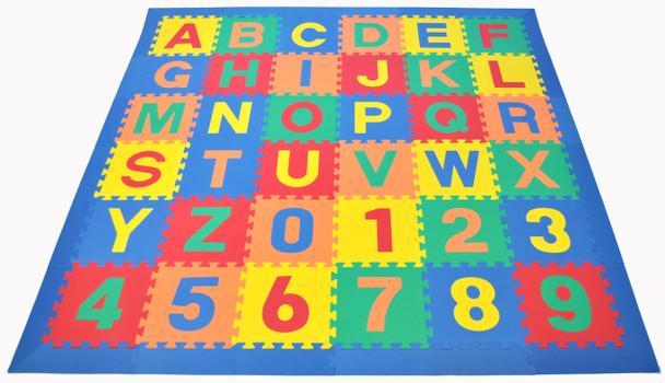 Alphabet Puzzle Activity Mat - Blue Border