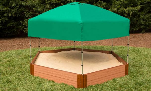 Hexagon Sandbox w/ Telescoping Canopy & Cover  2