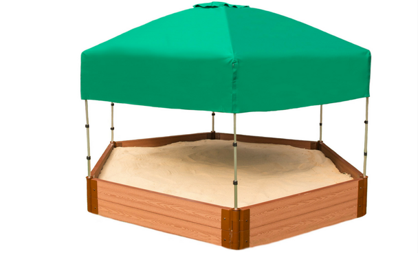 Hexagon Sandbox w/ Telescoping Canopy & Cover  3