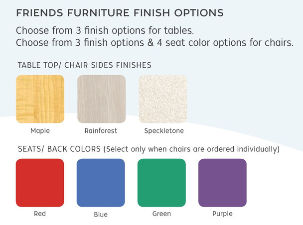 Friend's Chairs Color Options