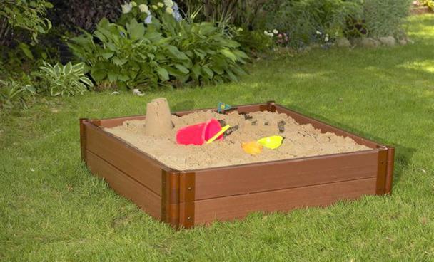 "4' x 4' x 11"" Square Sandbox Kit 4"