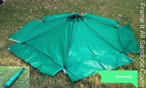 Telescoping Hexagon Sandbox Canopy & Cover