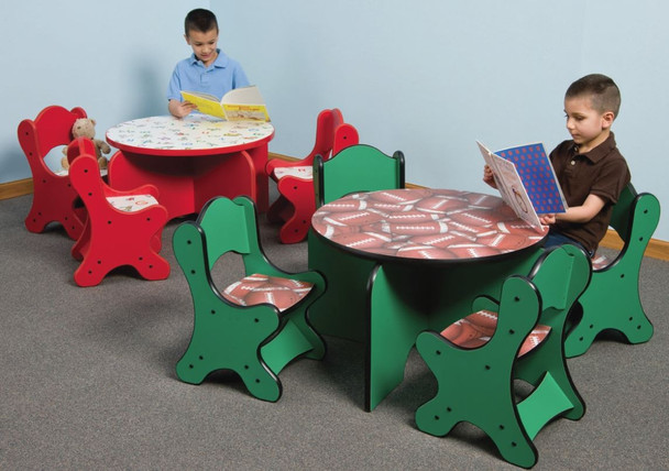 Artistic Toddler Chairs around Table