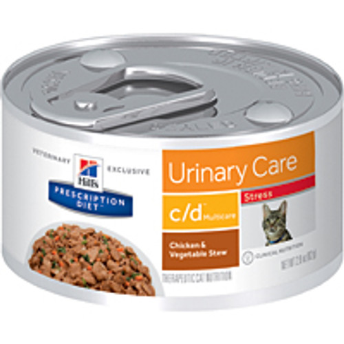 Hills c/d Multicare Stress Urinary Care Stew Feline 24/2.9oz cans