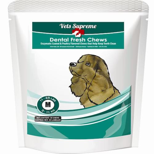 Vets Supreme Dental Fresh Chews Medium Dogs 11-25lbs 30ct