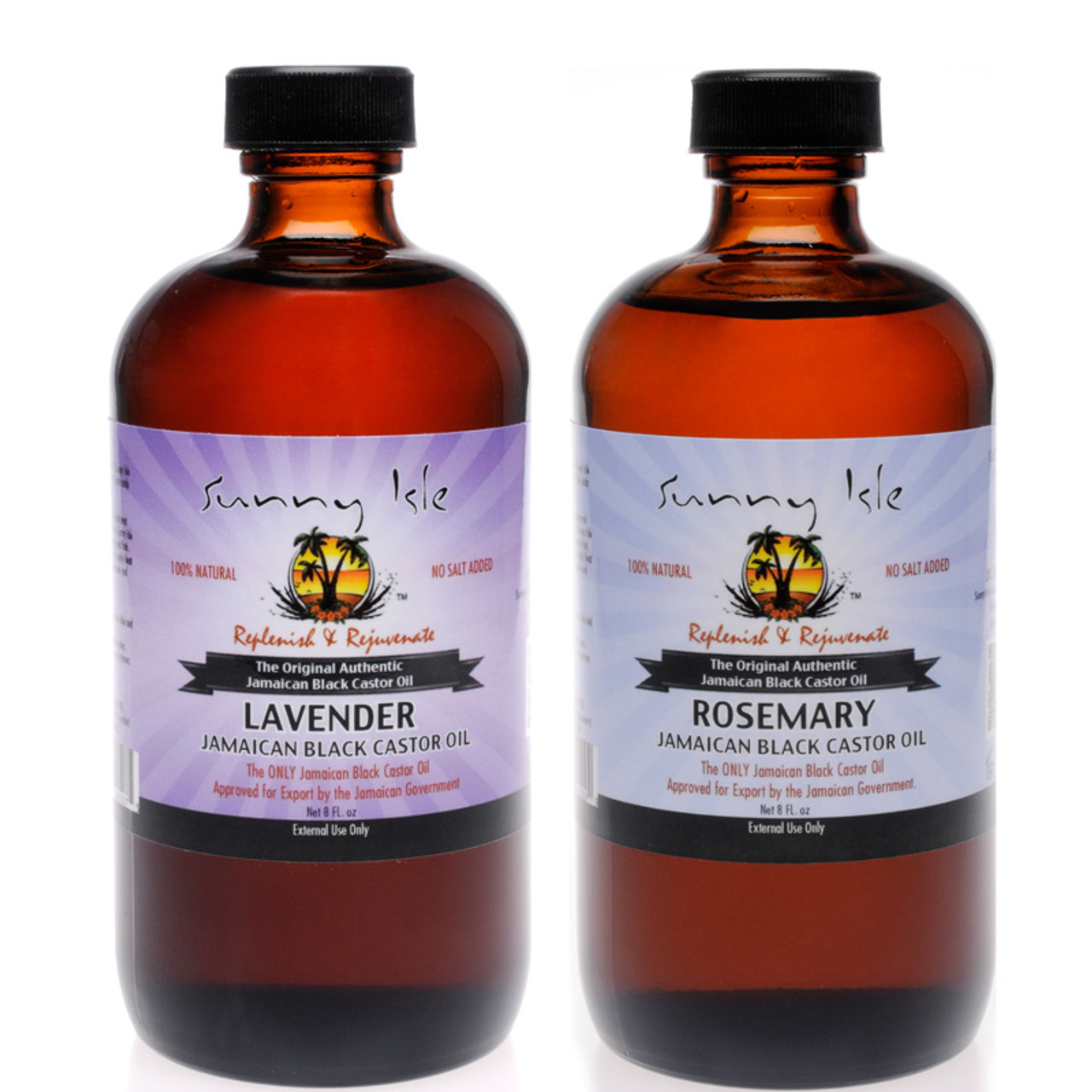 Isle Lavender Jamaican Black Castor Oil and Rosemary JBCO 8Oz 2-Pack
