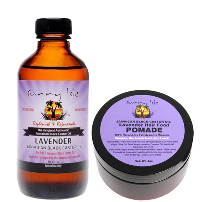 Lavender Jamaican Black Castor Oil 4 Oz and Hair Pomade Combo