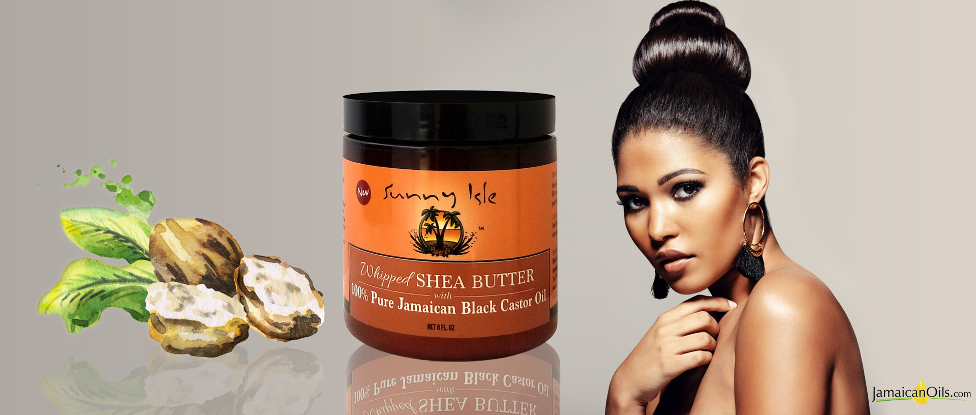 Sunny Isle Whipped Shea Butter with JBCO