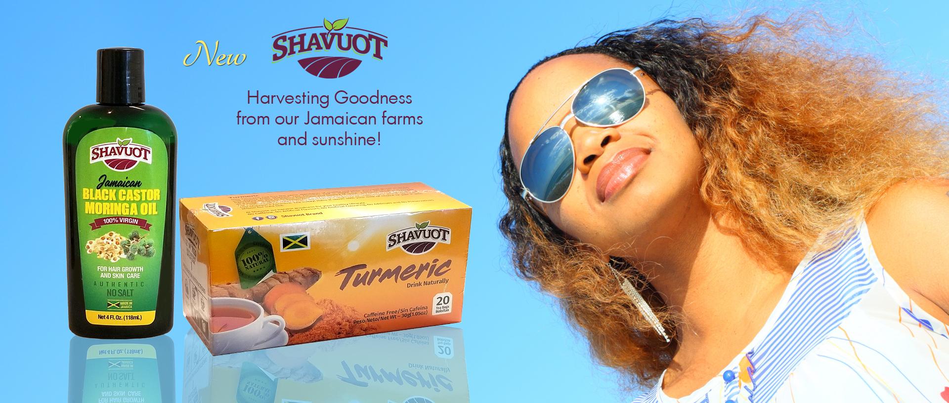 Shavuot Tumeric Tea and Black Castor MORINGA Oil