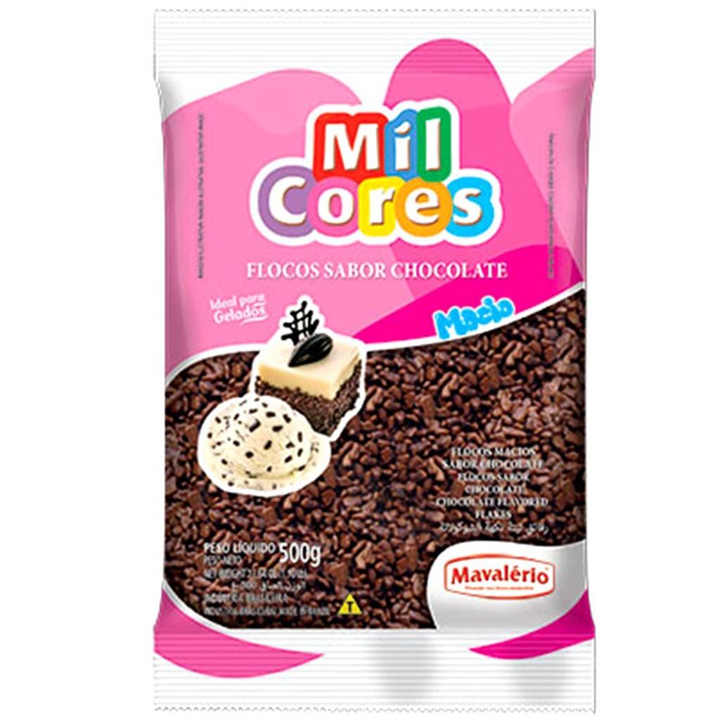Granulado Macio em Flocos de Chocolate 500G MAVALÉRIO