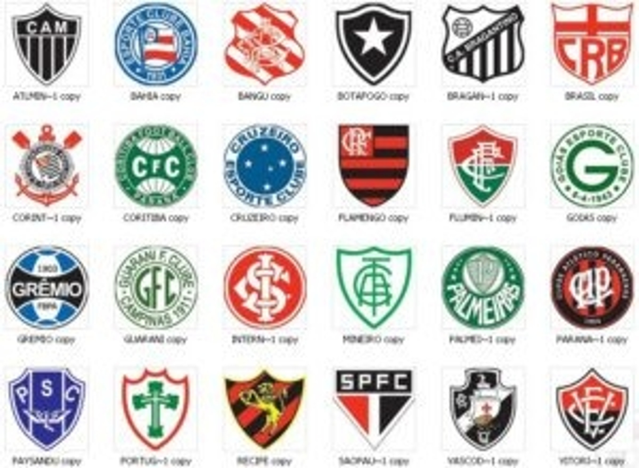 Times de Futebol / Soccer Team Products