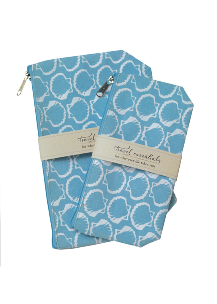 Ocean Travel Essential Cosmetic Bags (set of 2)