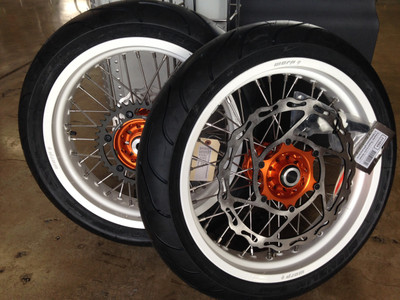 Warp 9 KTM 690 Enduro Supermoto Wheels with Tires