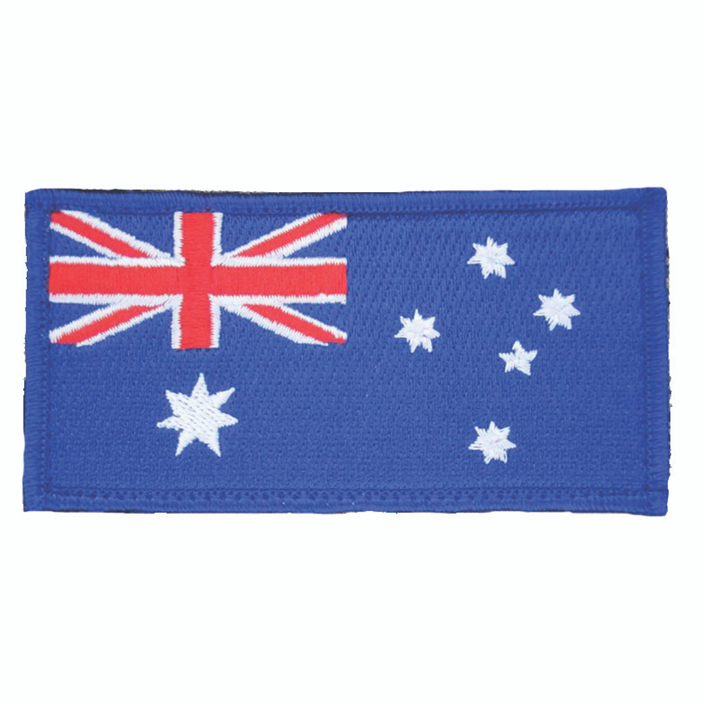 Australian Flag Embroidered Motorcycle Patch