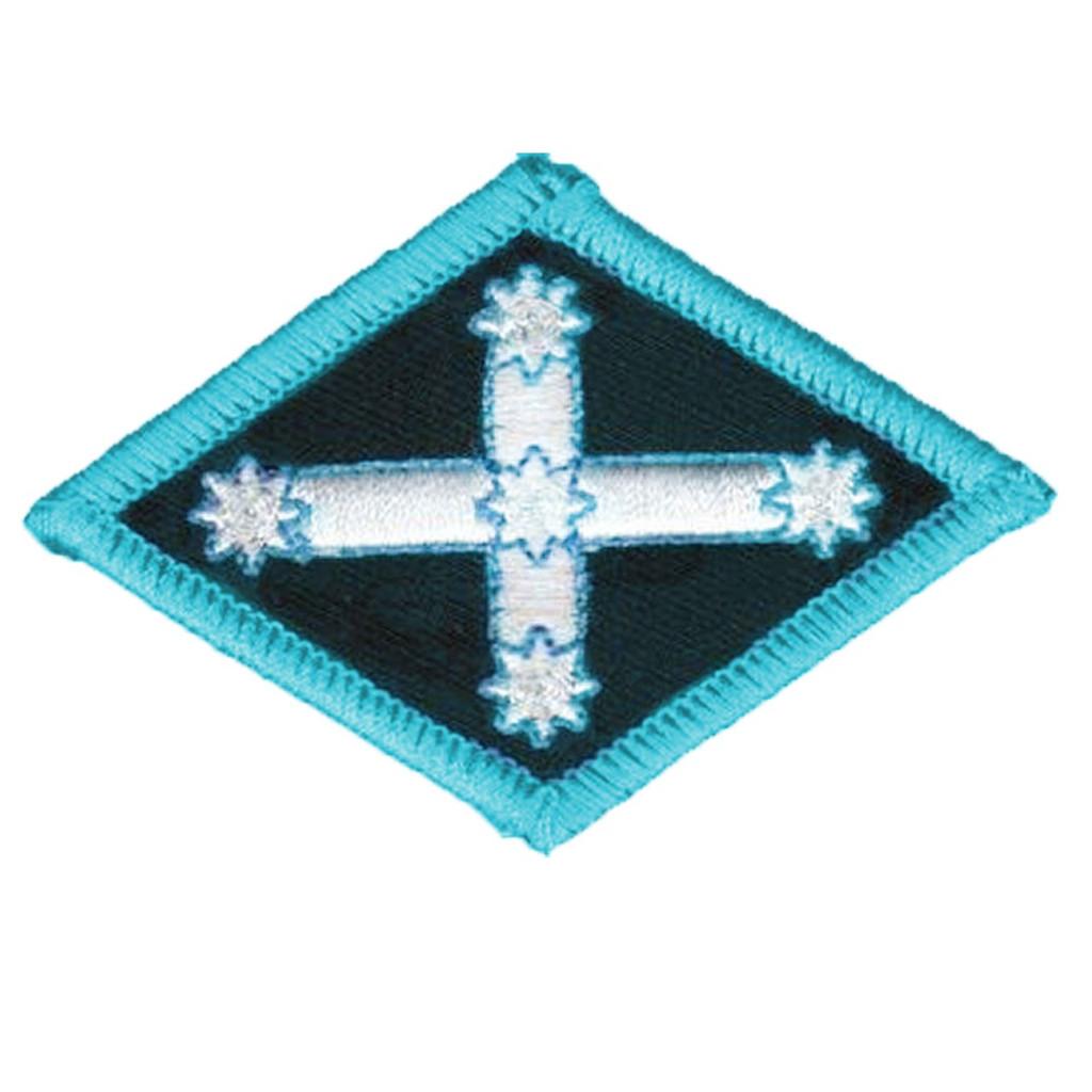 Blue Diamond Eureka Embroidered Patch