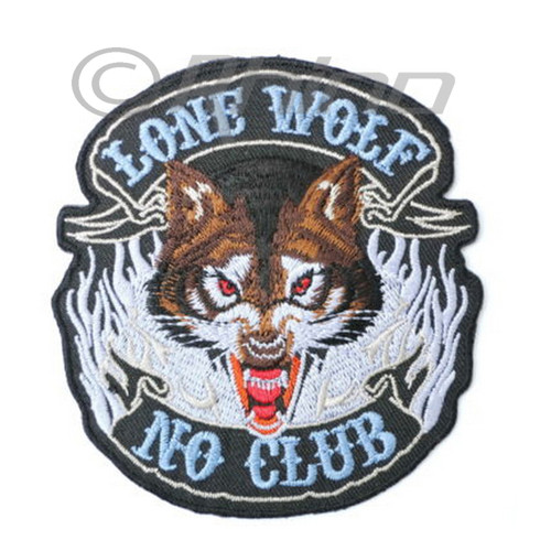 Lone Wolf No Club Full Face Patch