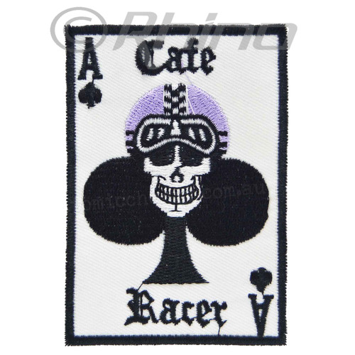 Cafe Racer Ace of Clubs Skull Patch