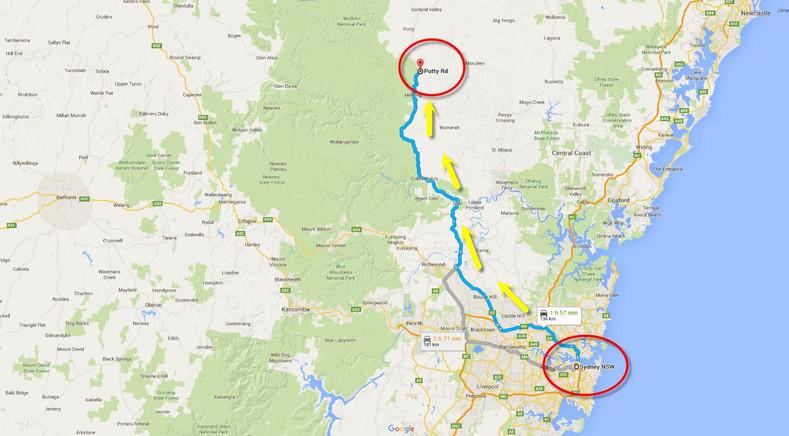 Sydney to Putty Road