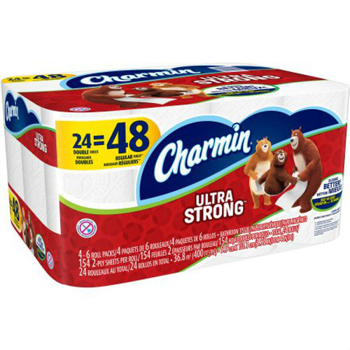 Charmin Ultra Strong Toilet Paper Double Rolls 154 Sheets 24