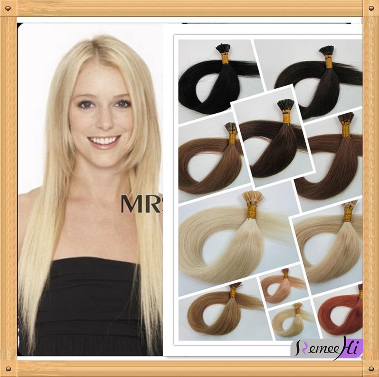 Remeehi 100s 70g Strands Keratin Stick I Tip 100 Remy Human Hair