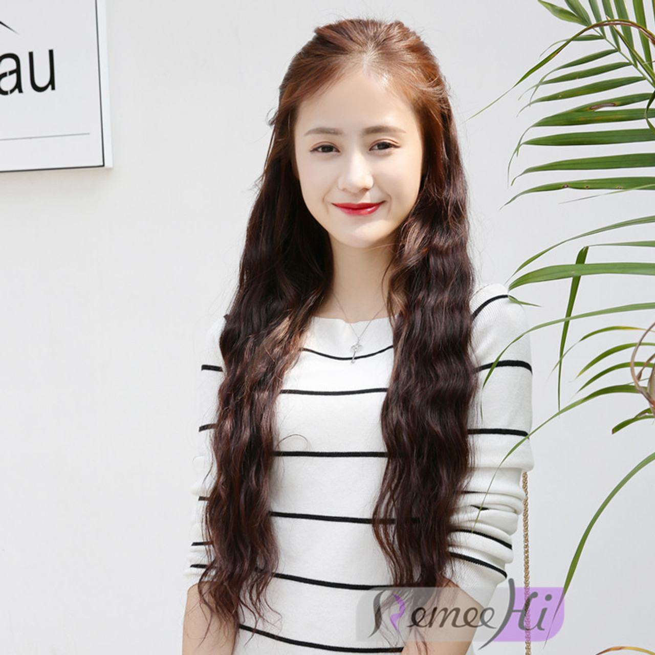 Remeehi Wave One Hairpiece Clip In Human Hair Extension 120g 45cm