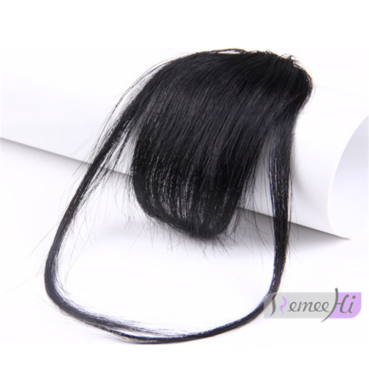 Remeehi Gorgeous Real Human Hair Air Bangs With Templesno Sideburns