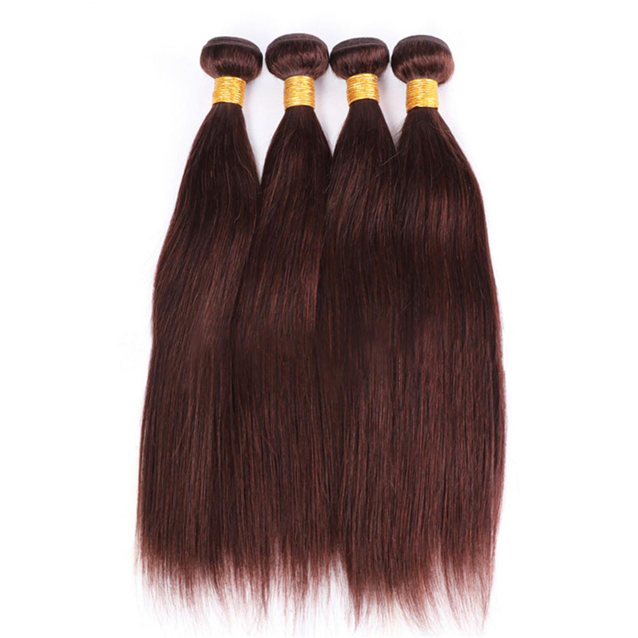 Remeehi Brazilian Virgin Human Hair Weft Straight Ombre Hair