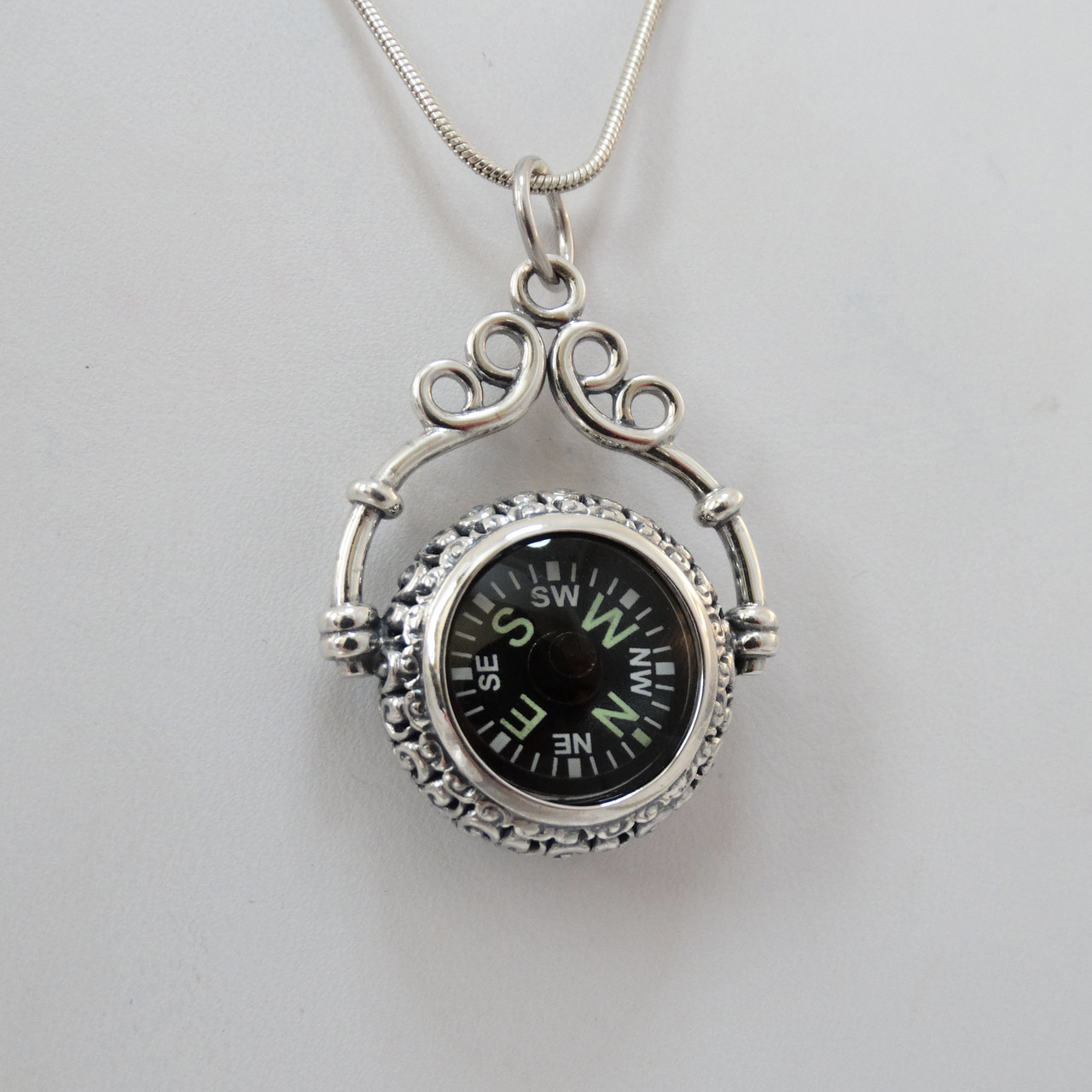 compass sterling necklace silver explore dogeared