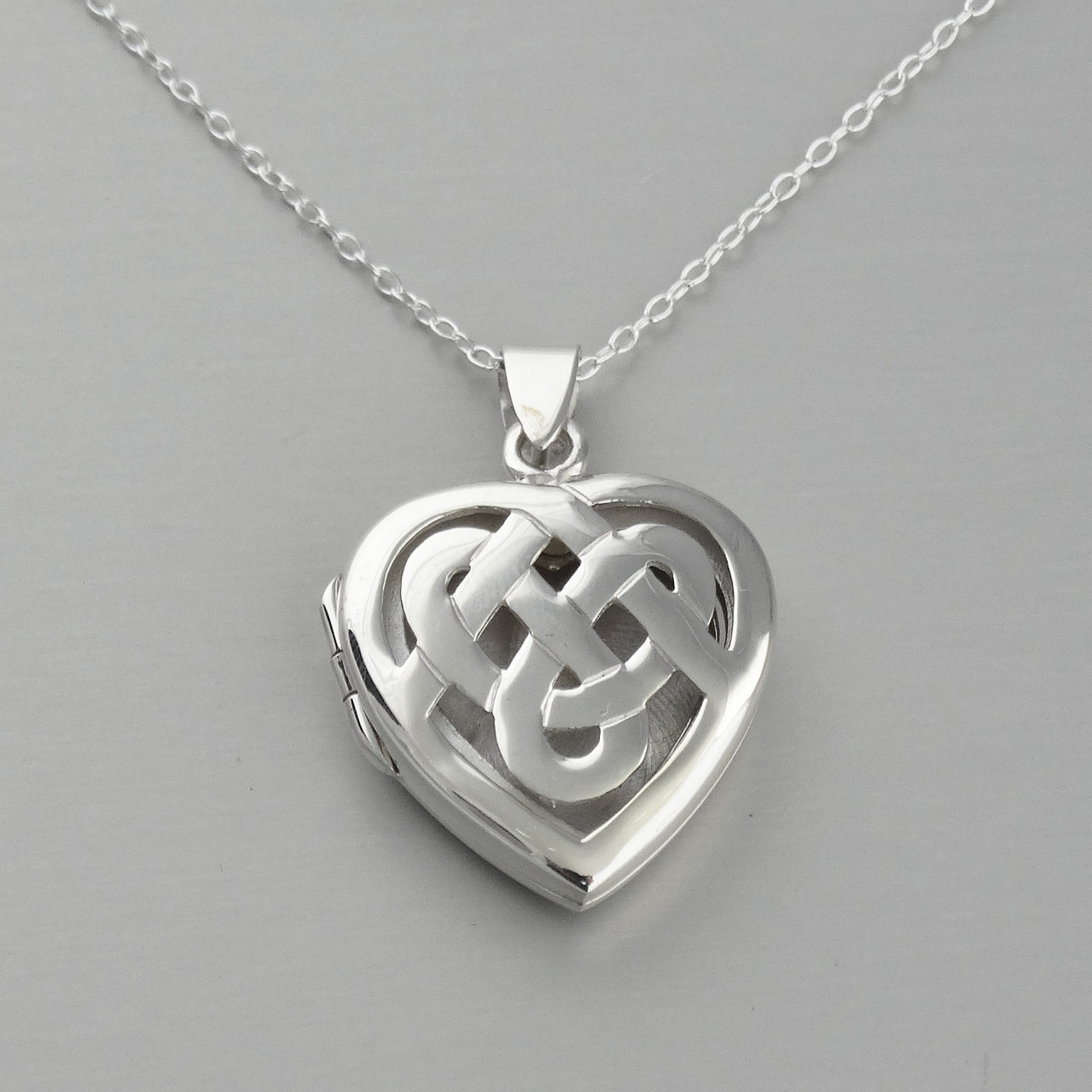 knot with in cz pattern sterling e necklaces pendant pendants initial chain celtic silver necklace